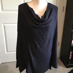 NWT Beautiful navy/silver sweater